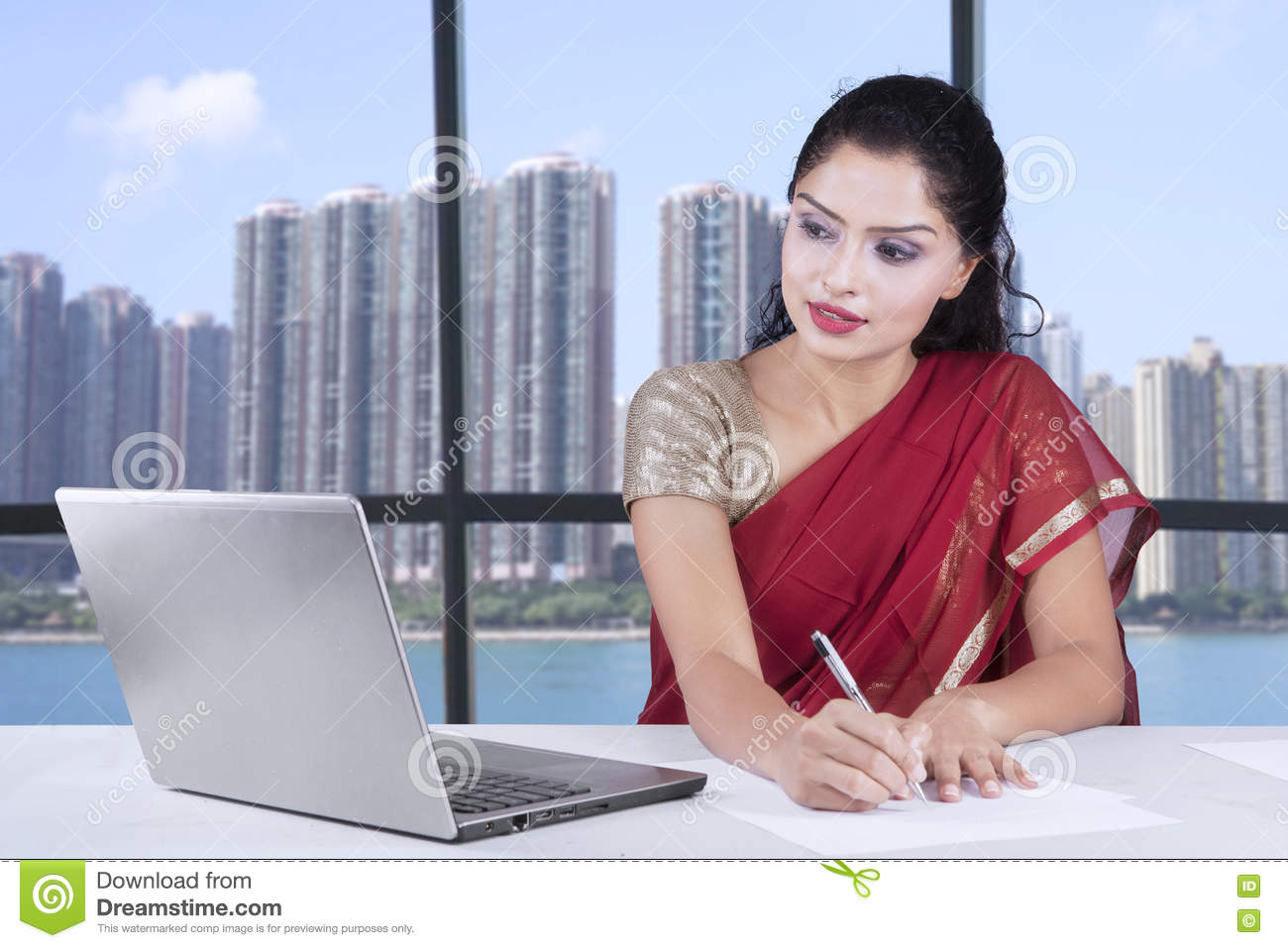 Person Working Laptop
