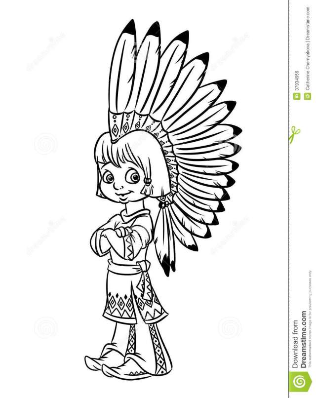 Indian Coloring Pages Stock Illustrations – 28,28 Indian Coloring