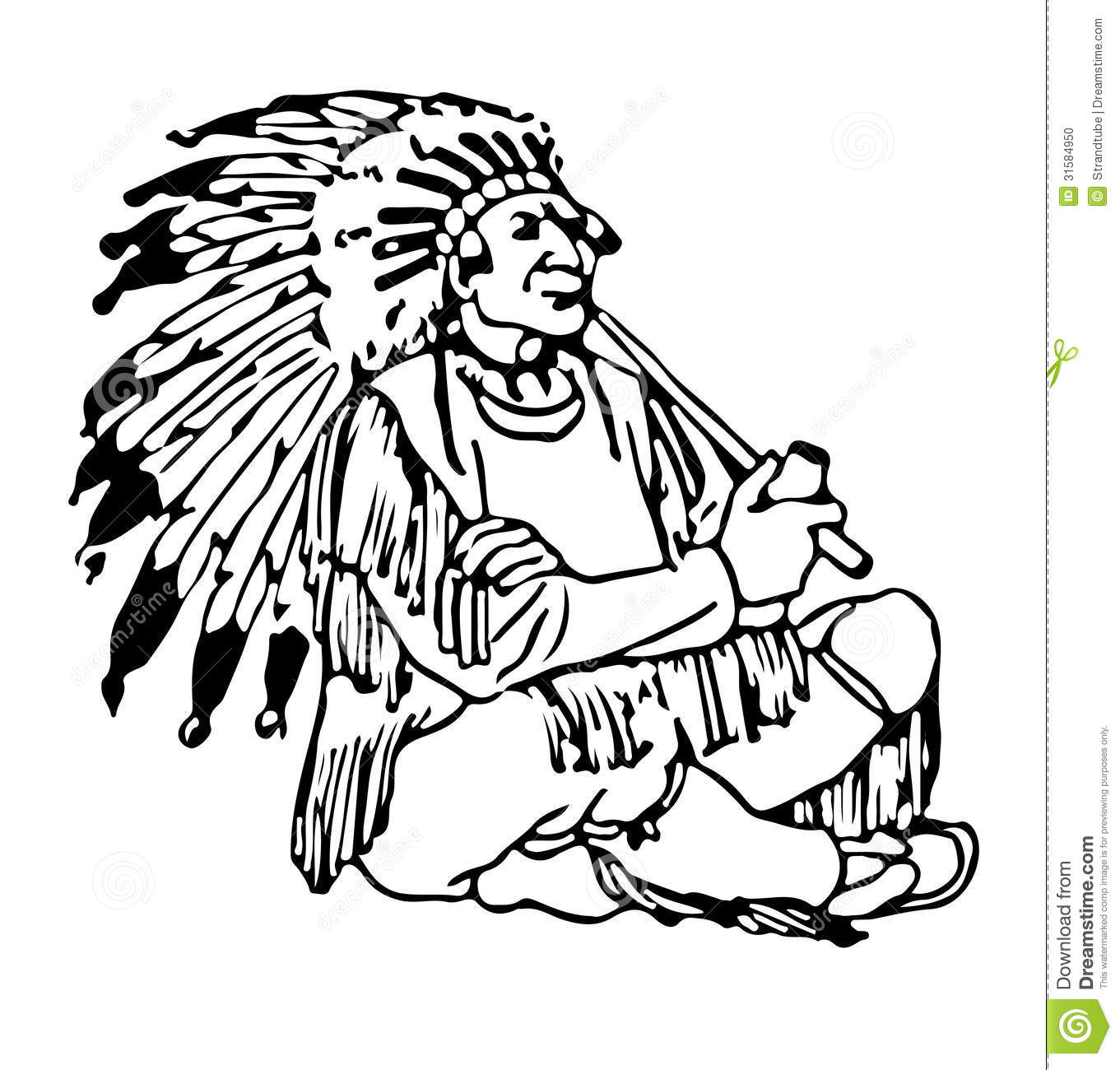 Indian Chief Eps Stock Illustration Illustration Of Face