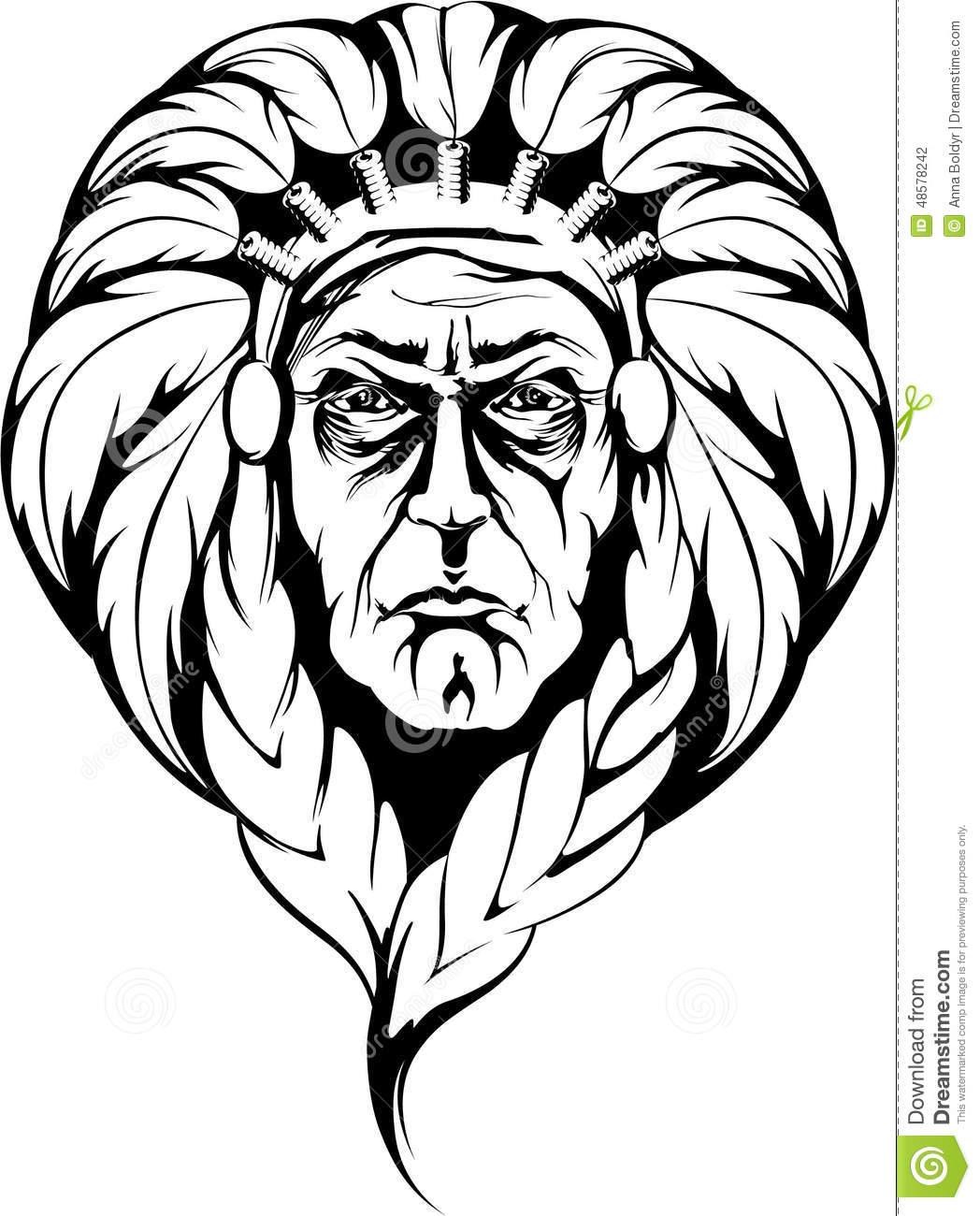 Indian Chief Stock Vector Illustration Of Warrior