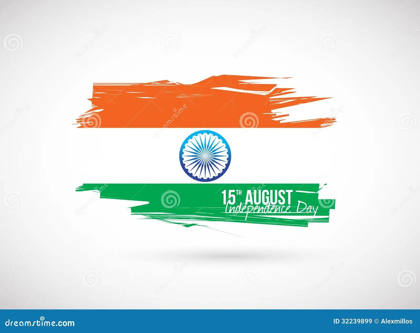 Indian Flag Independence Day Design Stock Illustration