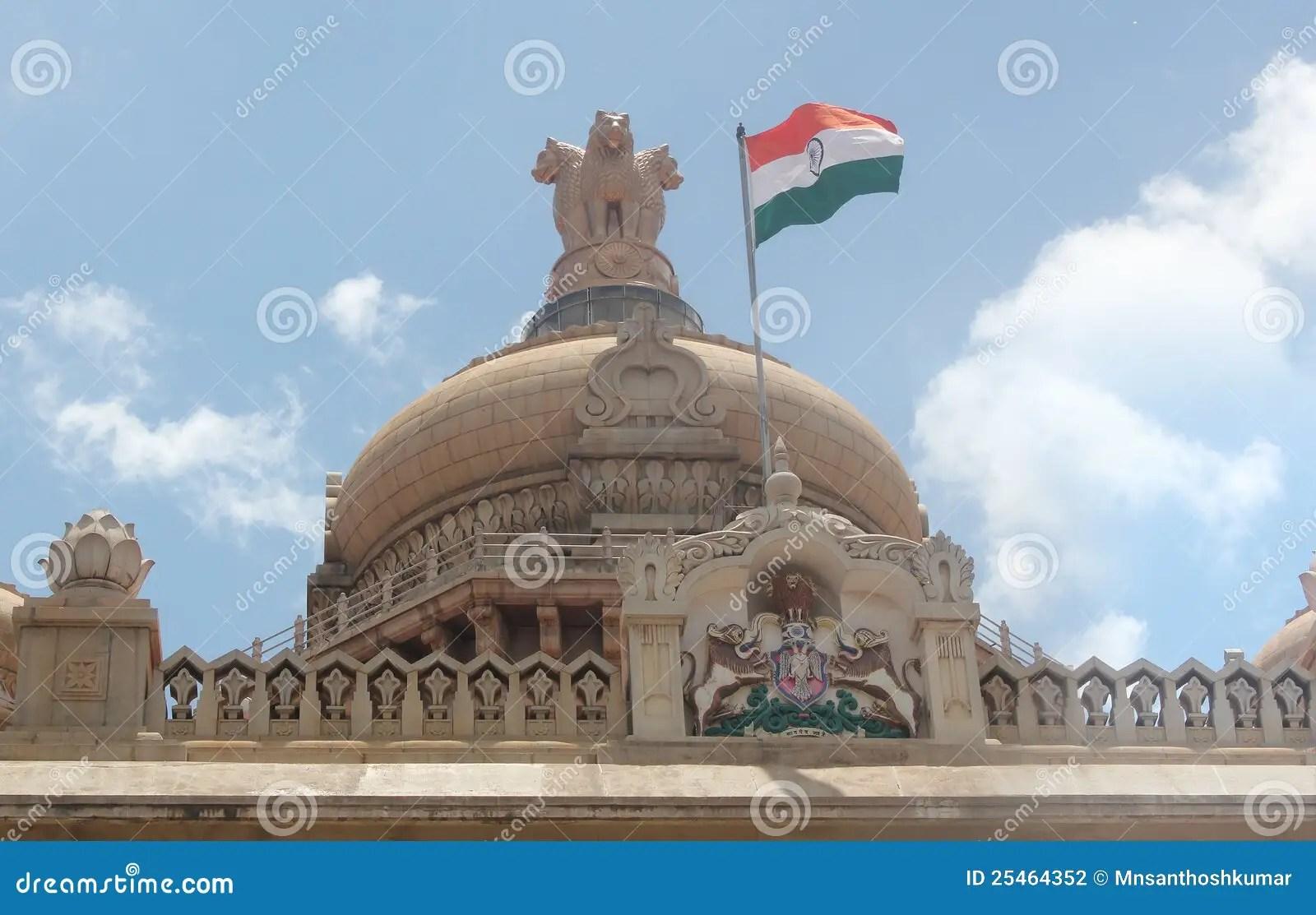 Indian Flag Animation Wallpaper Indian Flag On Vidhana Soudha Travel Bangalore Stock