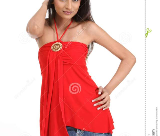 Indian Girl With Red Dress