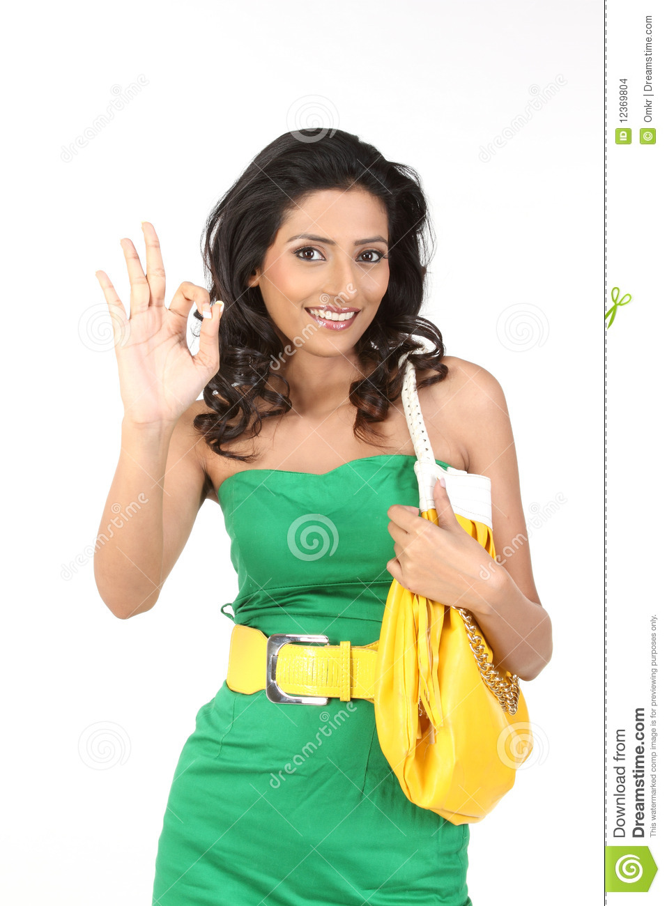 Indian Girl Saying Excellent Stock Photo  Image 12369804