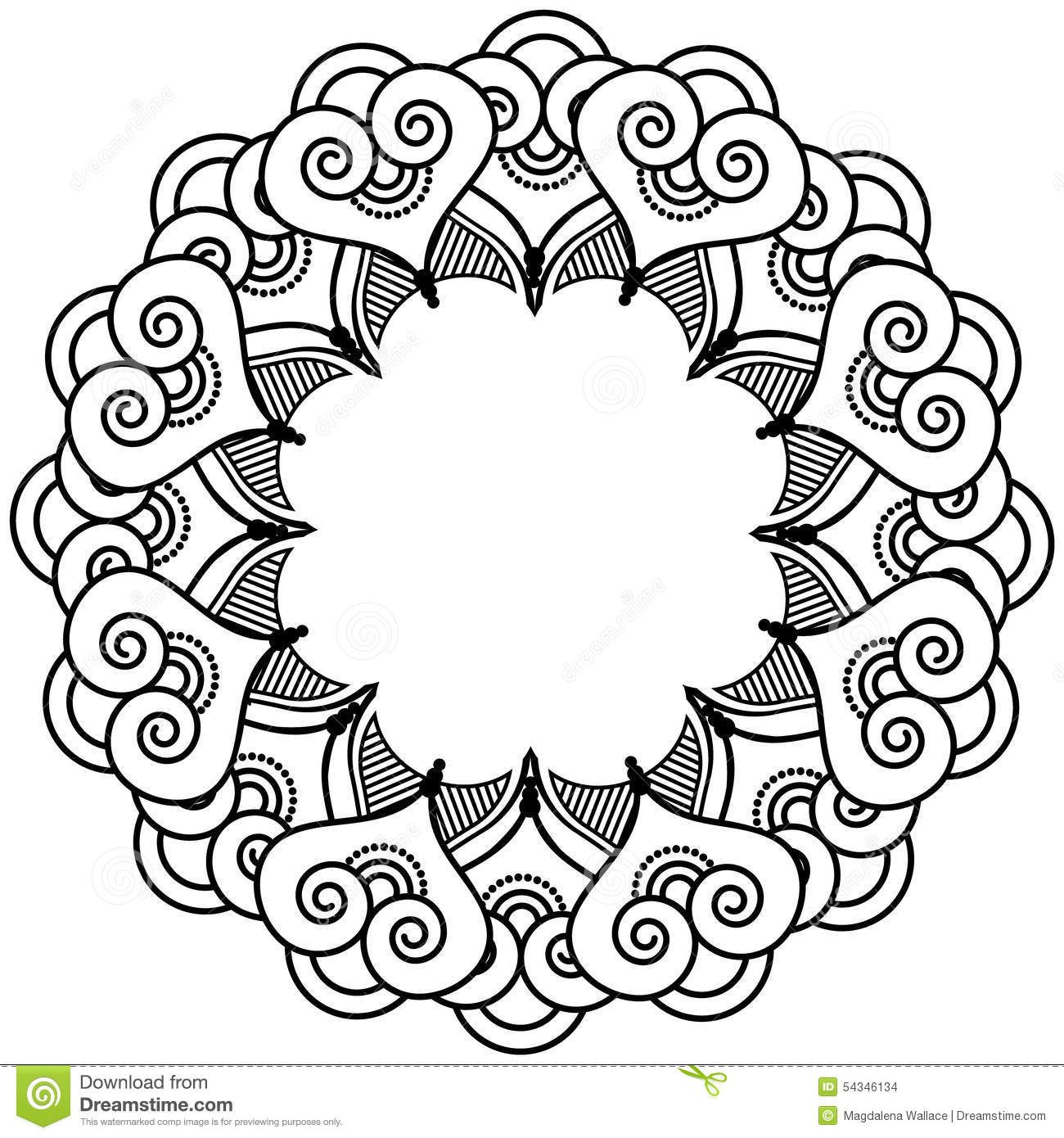 Admirable Indian Henna Tattoo Inspired Heart Shapes Wreath With Auto Wiring Cloud Pendufoxcilixyz