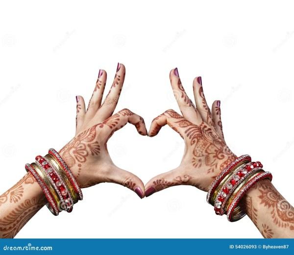 Henna Hands Indian Women