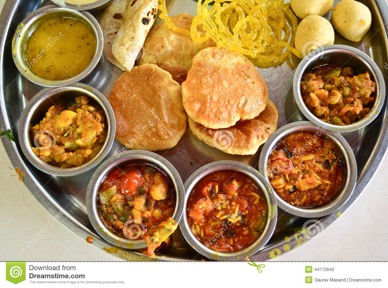 Indian Meal Vegetarian Dinner Lunch Stock Photo  Image of
