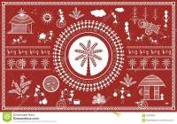 Indian Tribal Painting. Warli Painting Stock Illustration ...