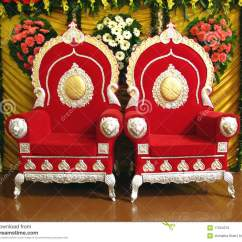 Wedding Stage Chairs Set Of 2 Accent Indian Royalty Free Stock Images Image