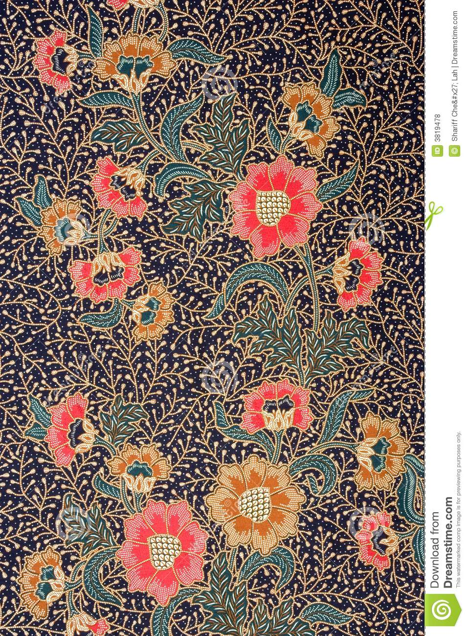 Indonesian Batik Sarong stock photo Image of asian cloth