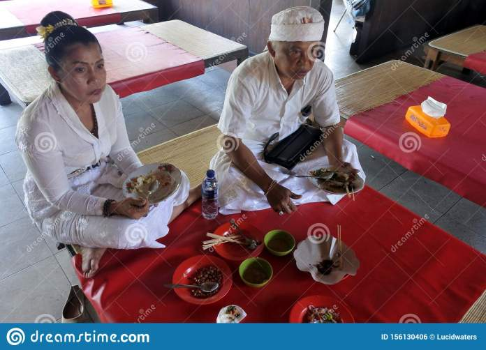 Indonesian Couple Eating Traditional Indonesian Food In A Restaurant In Bali Indonesia Editorial Photo Image Of Enjoyment Indonesia 156130406