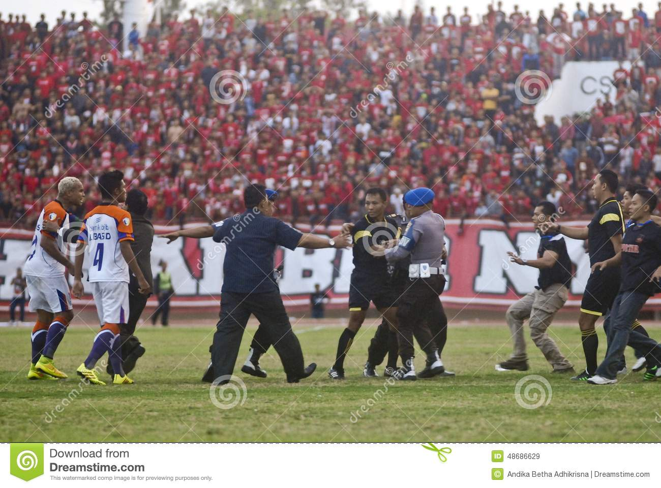 INDONESIAN SOCCER TROUBLES Editorial Stock Image - Image