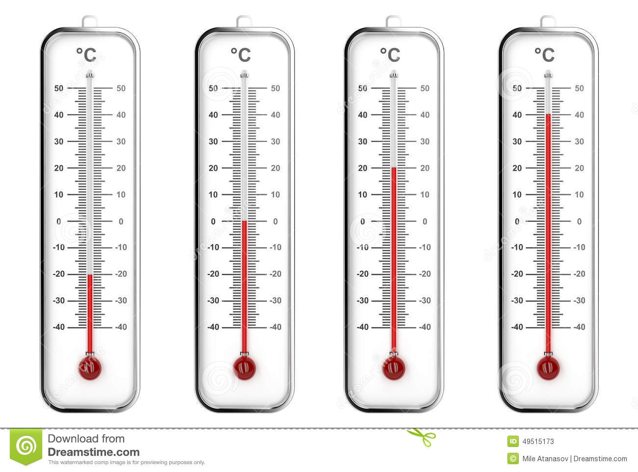 Indoor Thermometers In Celsius Scale Stock Illustration