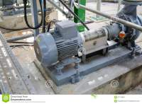 Induction Motor With Centrifugal Pumps Stock Image - Image ...
