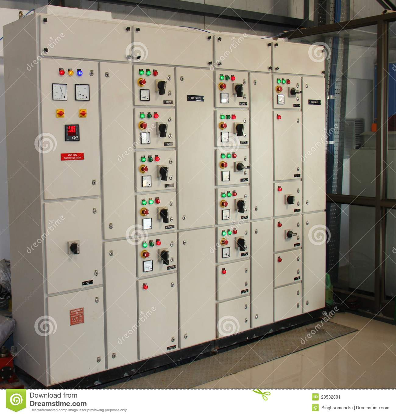 A Main Breaker Panel Wiring Industrial Control Panel Board Stock Image Image 28532081