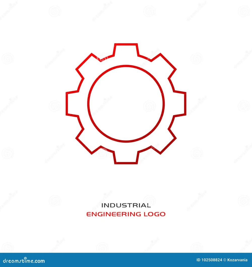 medium resolution of industrial engineering logo red gear