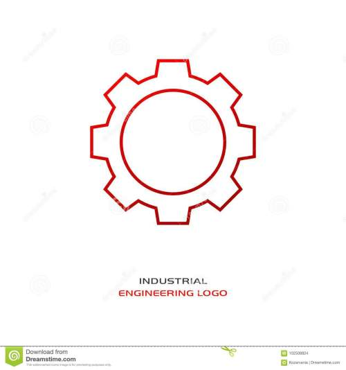 small resolution of industrial engineering logo red gear
