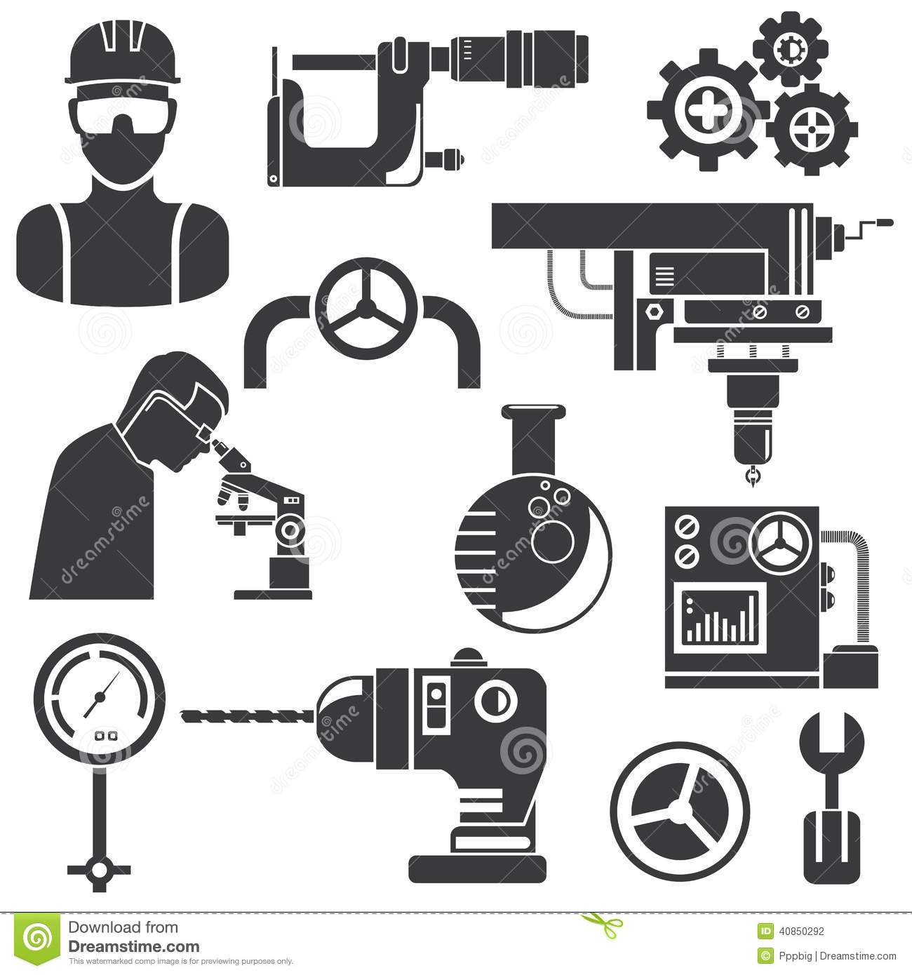 Industrial Engineering Stock Illustration Illustration Of