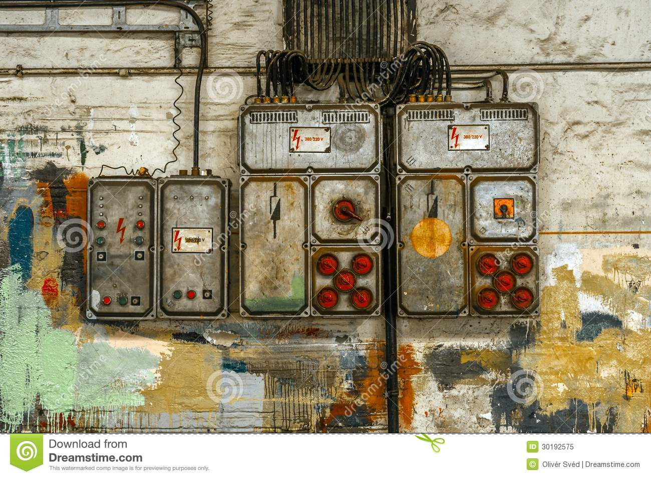 hight resolution of industrial fuse box on the wall stock image image of engineering home fuse box fuse box wall