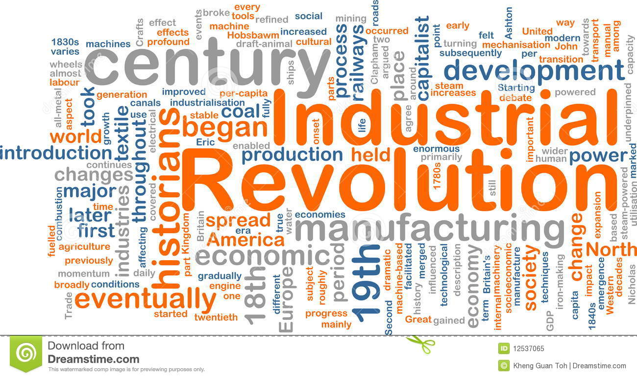 Industrial Revolution Word Cloud Royalty Free Stock Photo