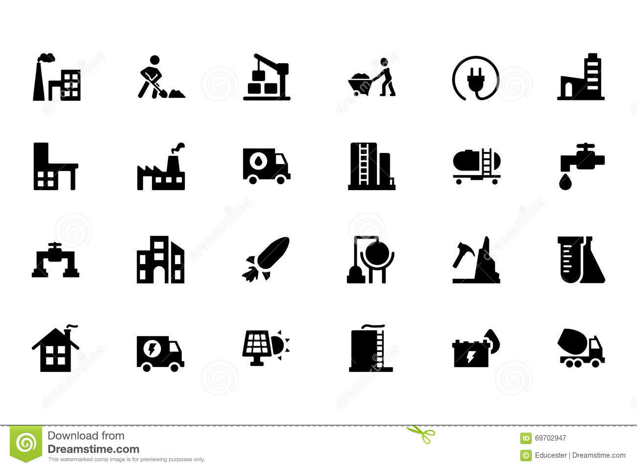 Industrial Vector Icons 4 Stock Photo