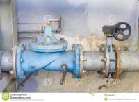 Industrial Water Pipes And Valves Stock Photo - Image ...