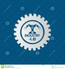 Industry 4.0 Icon Technology Concept.vector Illustration