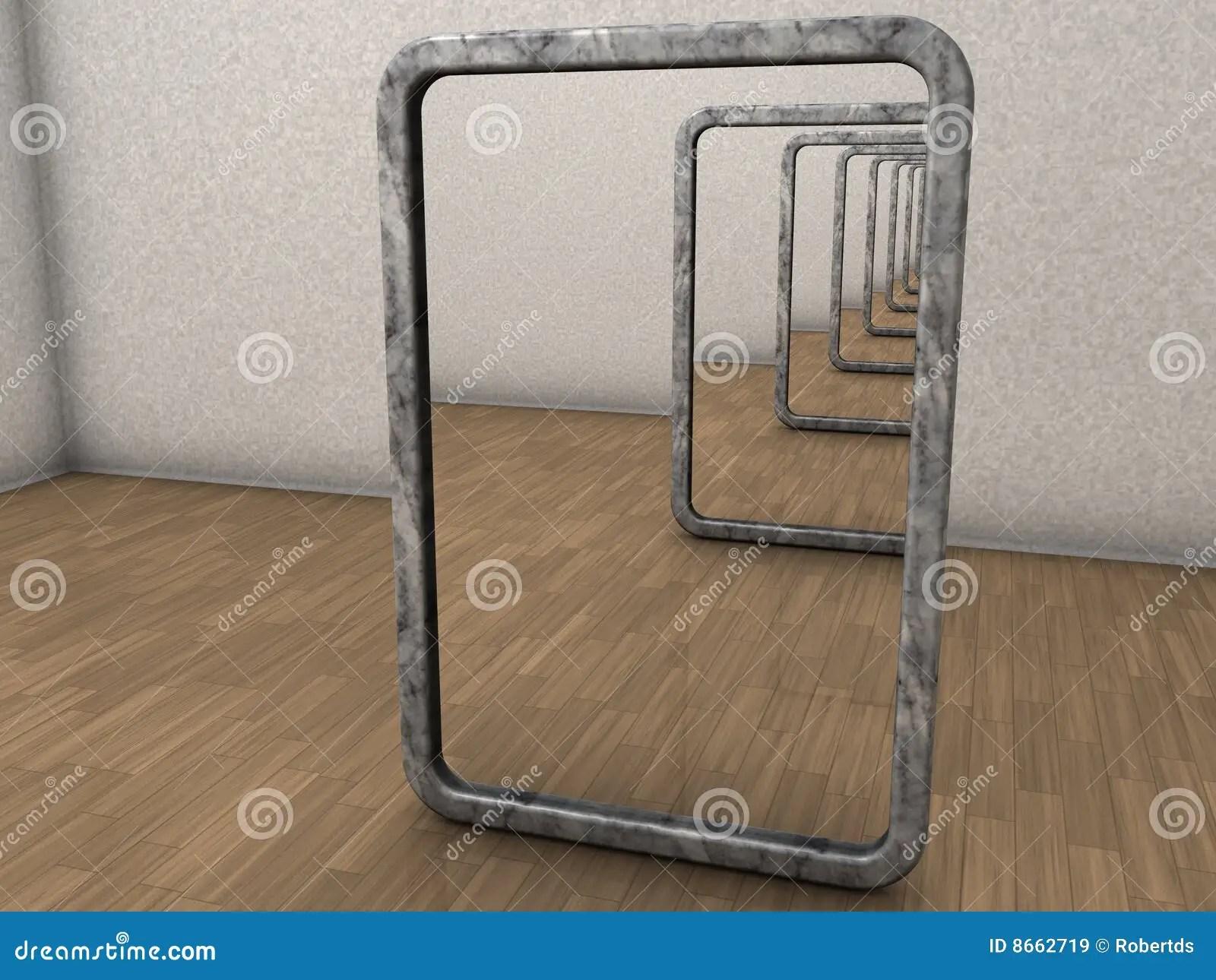 Infinite Mirrors Stock Illustration Image Of Infinitive