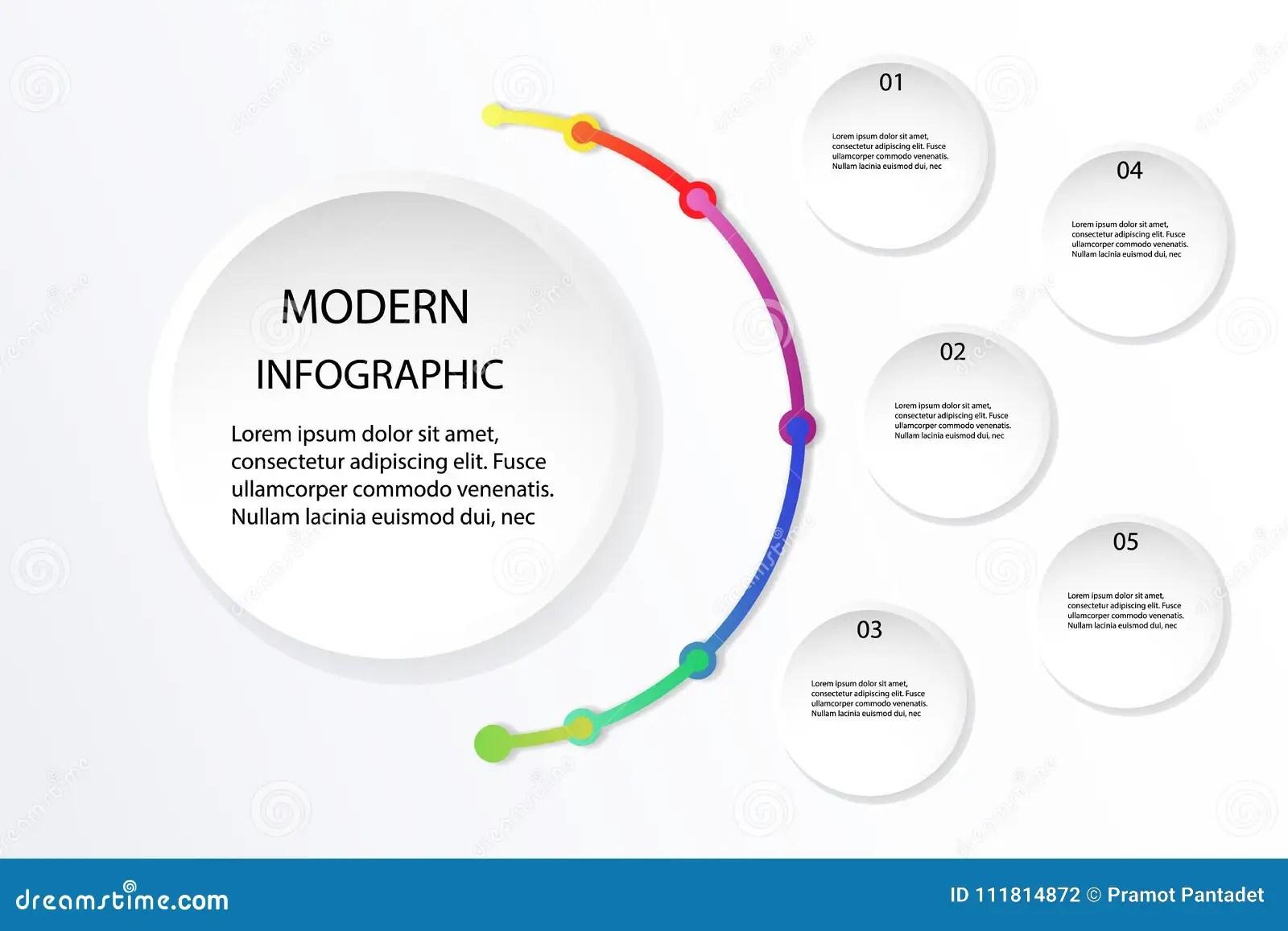Info Graphic Design Vector Illustration White And