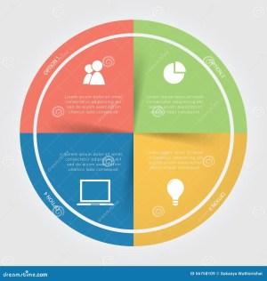 Infographic Color Circular Chart Stock Photo  Image: 56758109