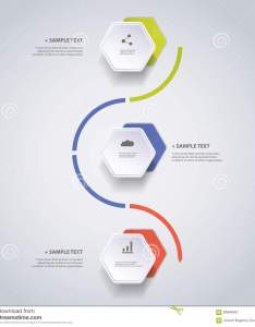 Download infographic concept flow chart design timeline with hexagons stock vector illustration of also rh dreamstime