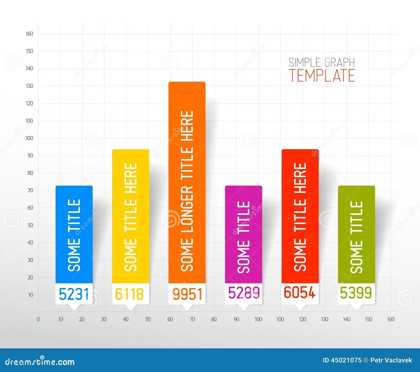 Infographic Flat Design Column Graph Chart Template Stock