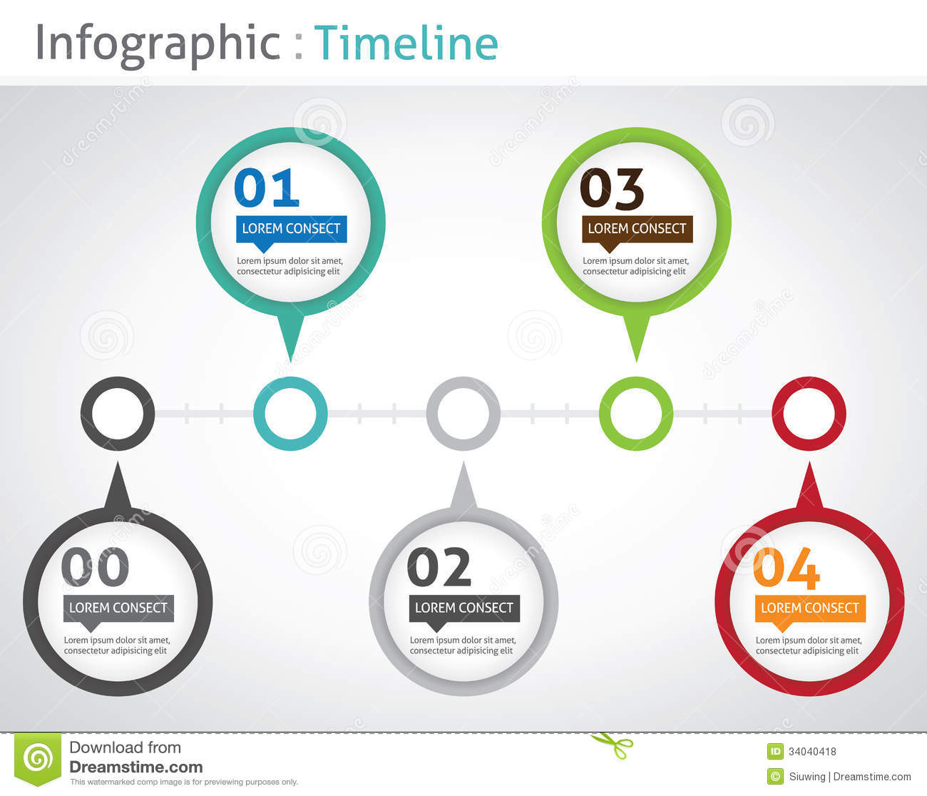 Infographic Timeline Royalty Free Stock Photos Image