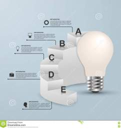 infographics for business presentations or information booklet idea light bulb with a diagram  [ 1300 x 1344 Pixel ]
