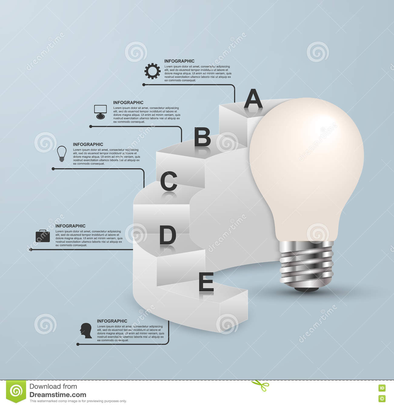 hight resolution of infographics for business presentations or information booklet idea light bulb with a diagram