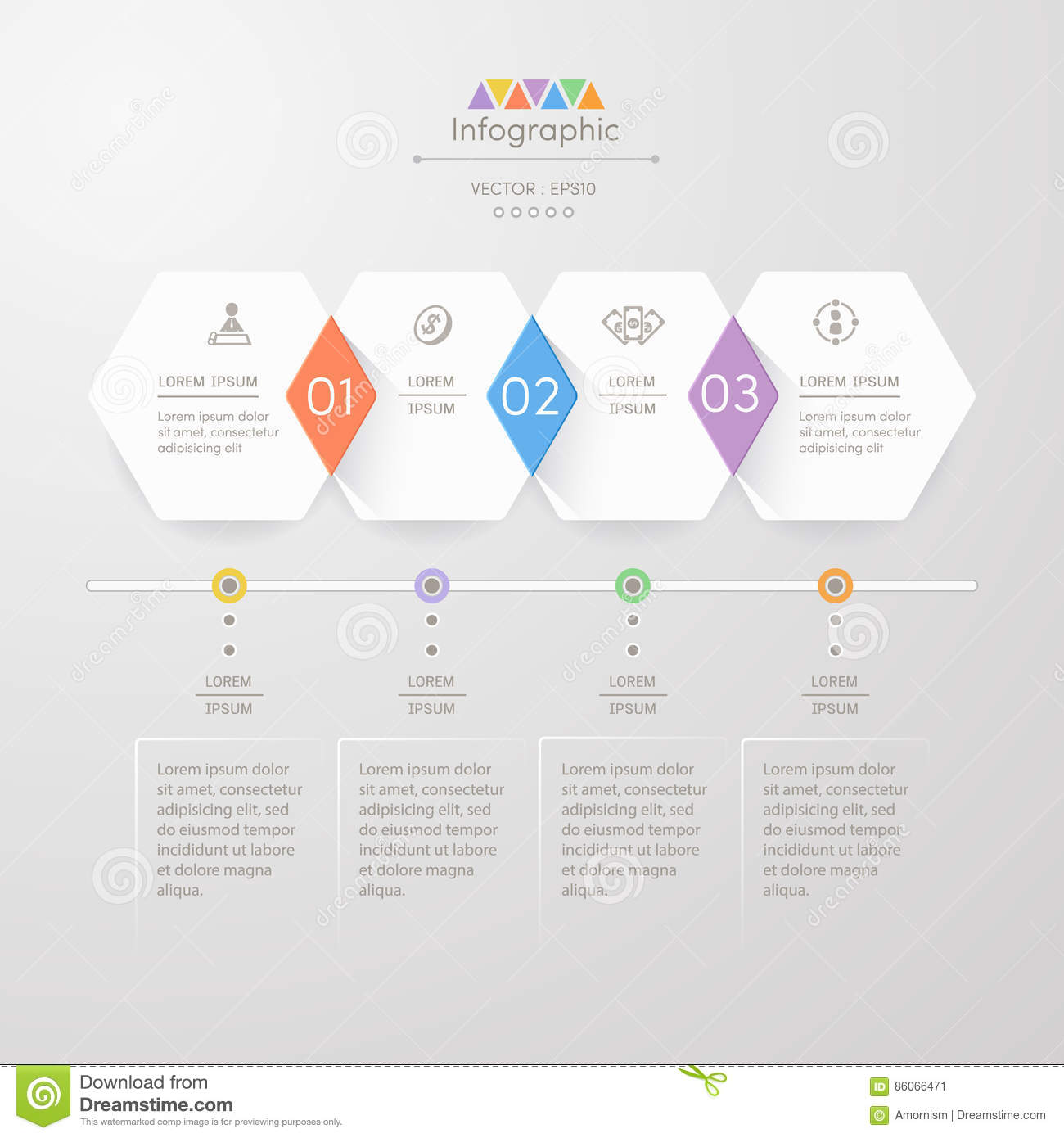 hight resolution of infographics design template with icons process diagram vector
