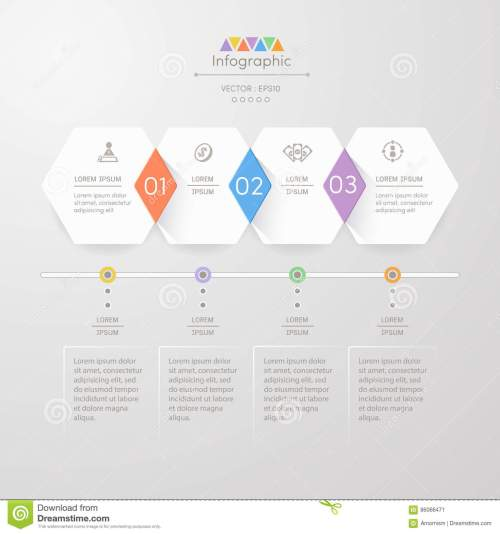 small resolution of infographics design template with icons process diagram vector