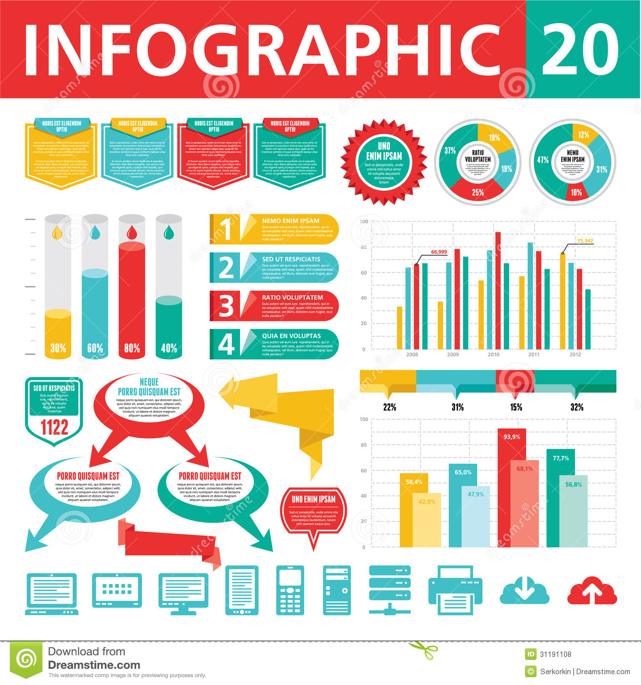 Infographics Elements 20 Royalty Free Stock Photos Image