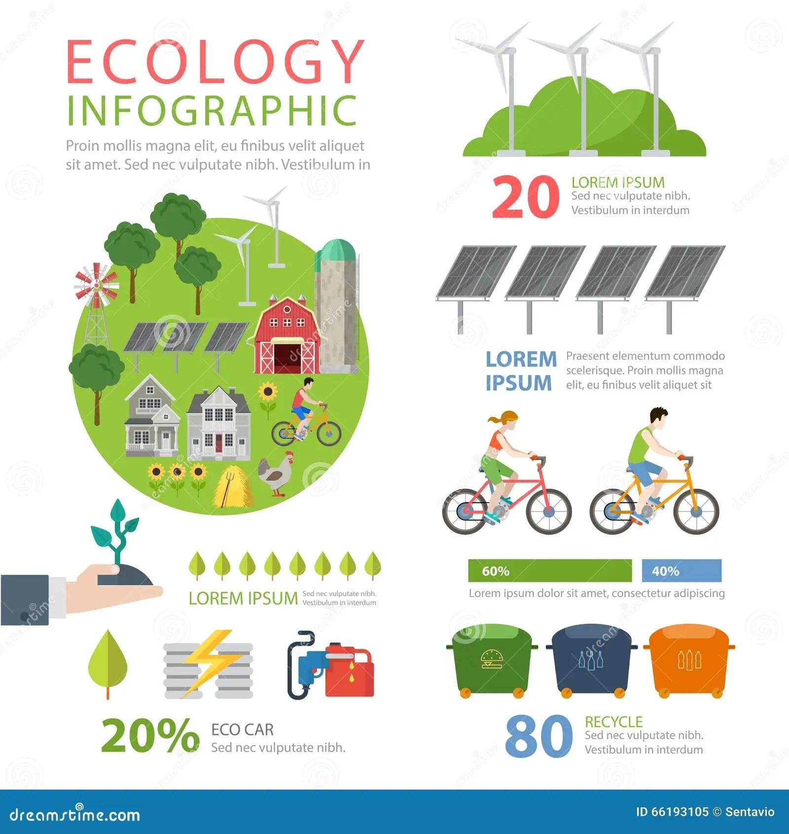 Infographics Liso Amigavel Do Vetor Da Ecologia