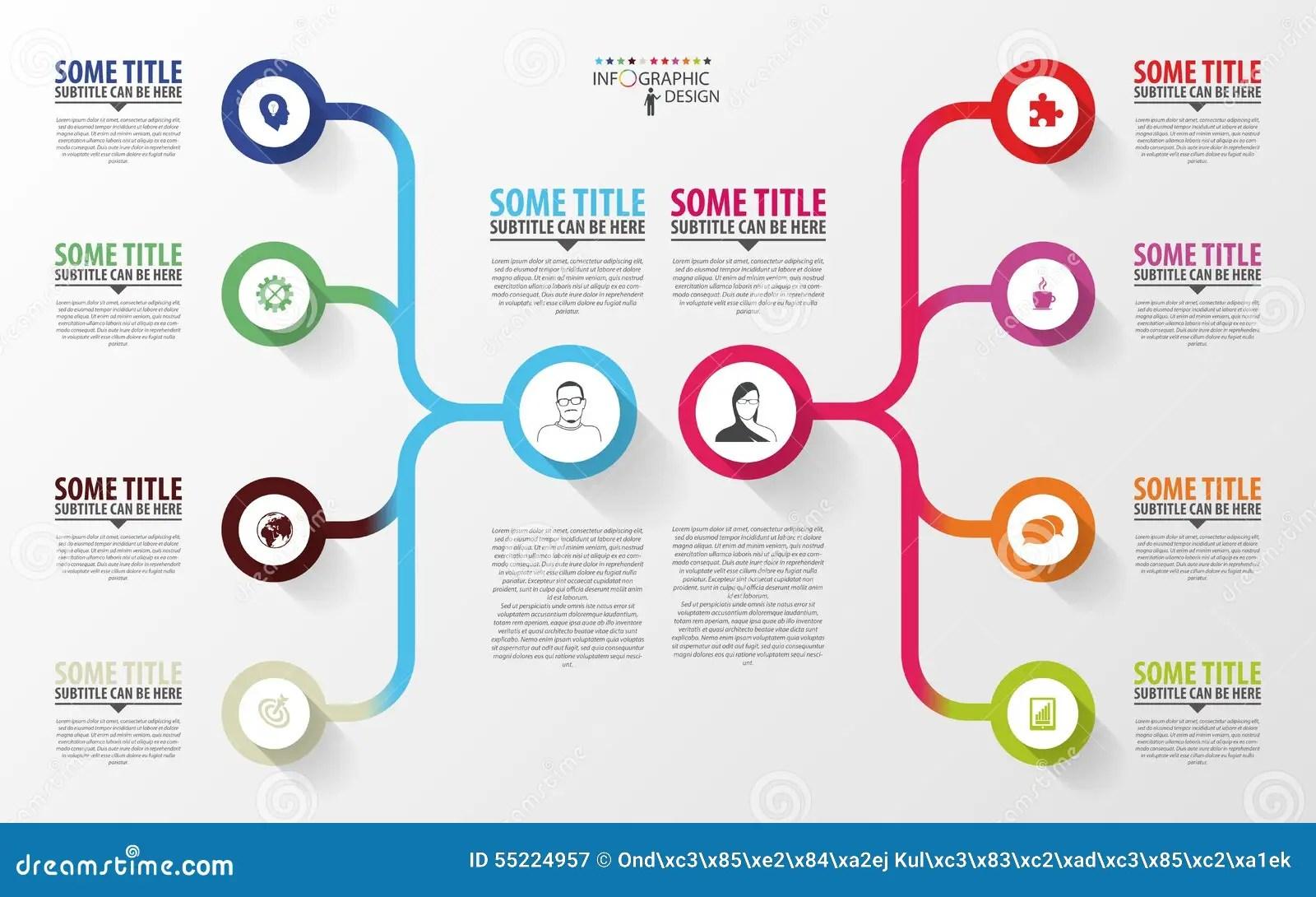 Infographics Moderne Calibre De Conception De Plan D