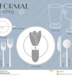 informal table setting stock vector illustration of [ 1300 x 1065 Pixel ]