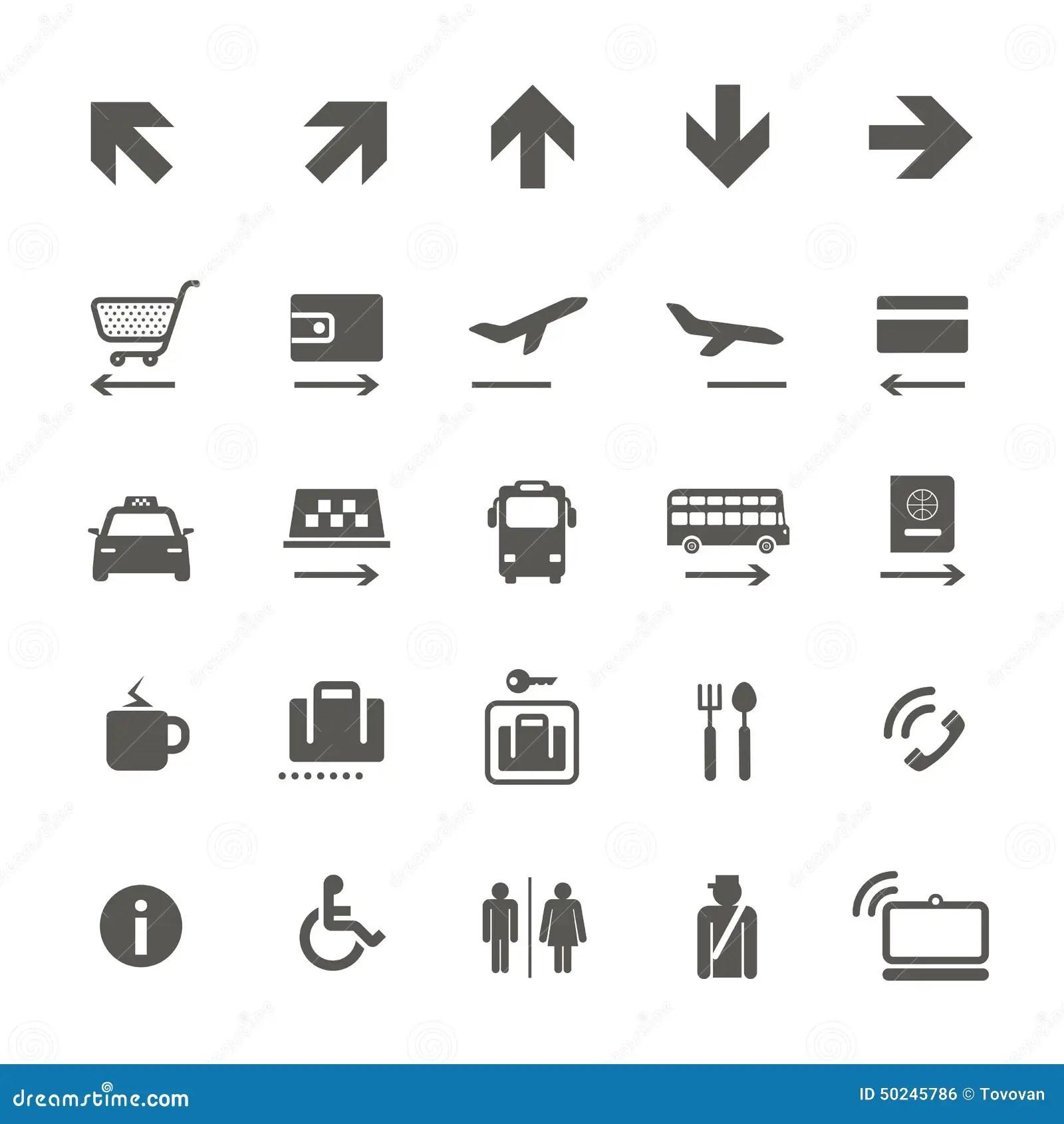 Informationstecken Om Flygplats Vektor Illustrationer