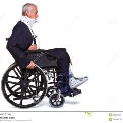 Wheelchair Man Tub Chairs Pictures Injured In Royalty Free Stock Photography