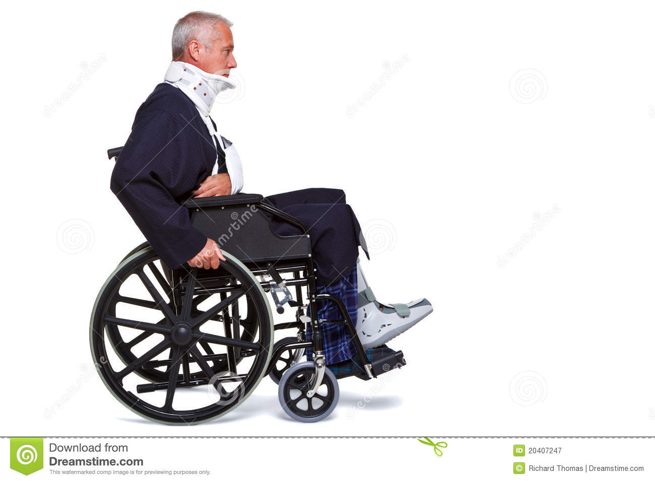 wheelchair man slipcover wingback chair diy injured in royalty free stock photography