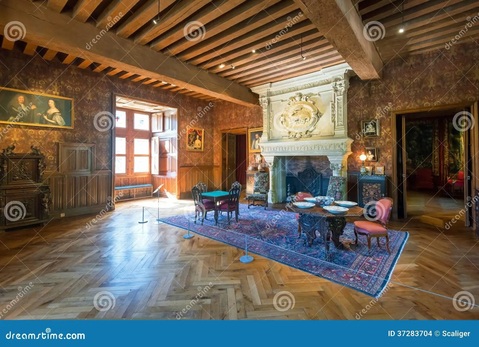 Innen Chateau De Azay Le Rideau Frankreich Redaktionelles