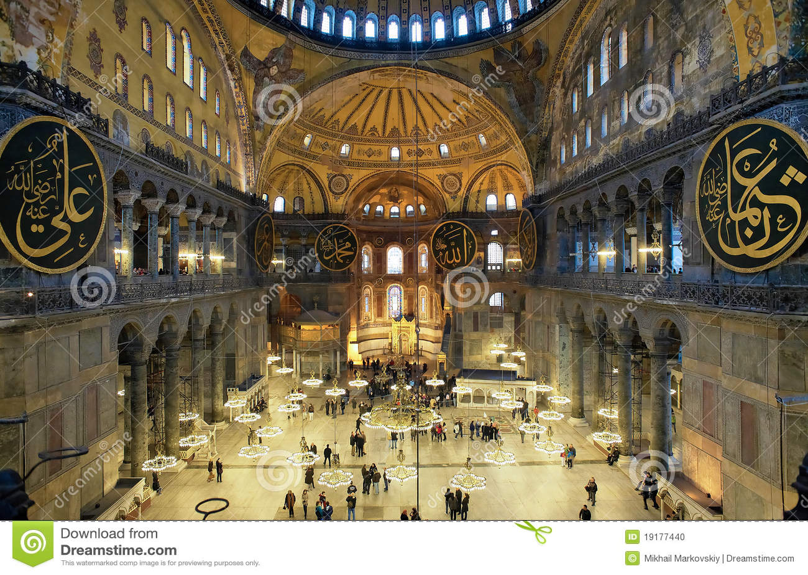 Innenraum Des Hagia Sophia In Istanbul Stockfoto Bild