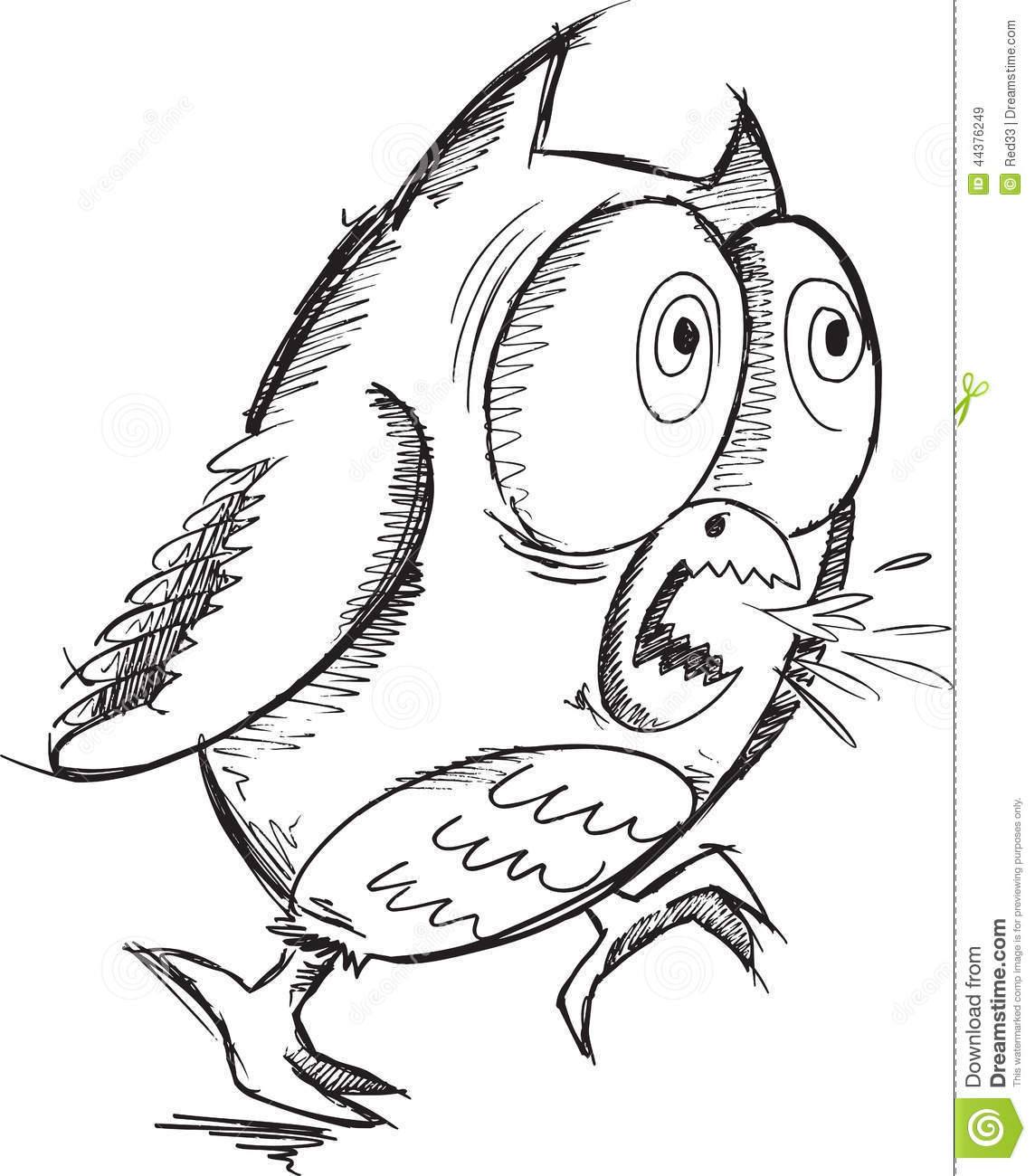 Insane Crazy Owl Vector Stock Vector