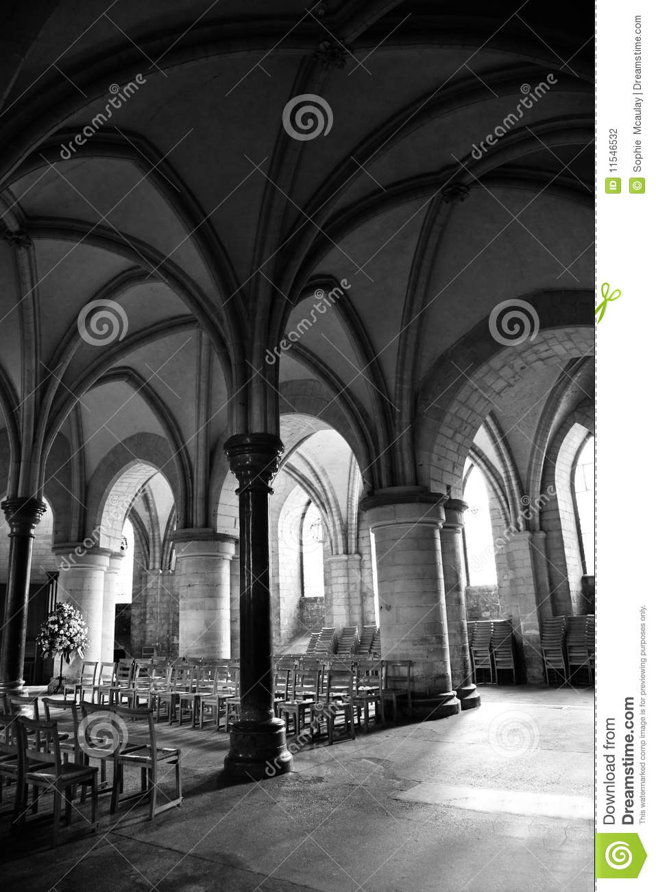 Inside Canterbury Cathedral Crypt Stock Photography