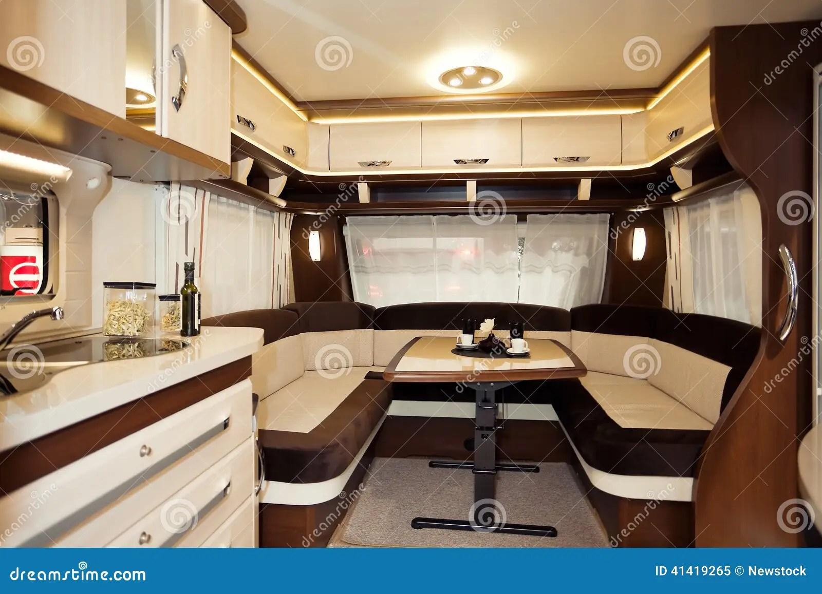 Inside Of Modern Camper Stock Photo  Image 41419265