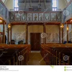 Inside Protestant Church Diagram Car Water Temperature Gauge Wiring Old Lutheran Stock Photo Image